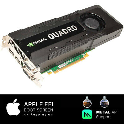 $ CDN437.53 • Buy  Apple MAC PRO Nvidia Quadro K5000 4GB PCI-E Video Card 4K 770 680 7950 Mojave