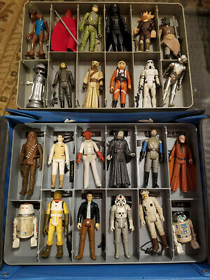 $ CDN200 • Buy Vintage Star Wars 24 Figure Lot With Weapons, Case Great Condition ANH, ESB ROTJ