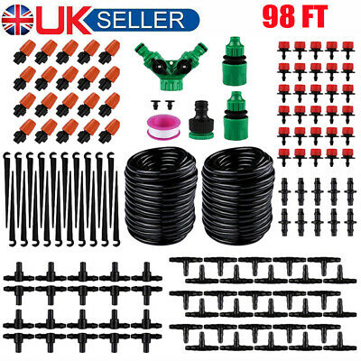 30M/98ft Micro Drip Irrigation Watering Automatic Garden Plant Watering System • 16.49£