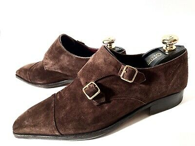 $ CDN466.37 • Buy Artioli Brown Suede Leather Double Monks Shoes Size 43,5, UK-9,5, US-10,5