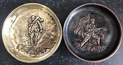 Ww1 Military Ashtrays ,Ww1 Period🇬🇧Excellent Condition No Helmet Worn.so Early • 41.99£