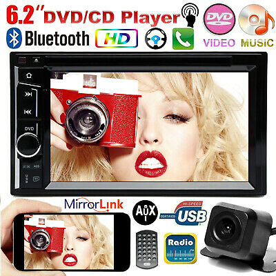 $164.11 • Buy For Nissan 6.2  Double 2 DIN Car Stereo Radio CD DVD Player Touch Screen +Camera