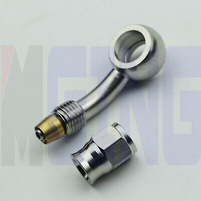 AU16.50 • Buy 3AN -3 AN 3 Hose End Brake PTFE Fitting Adapter 10.2mm 3/8  Banjo Up 28 Degree
