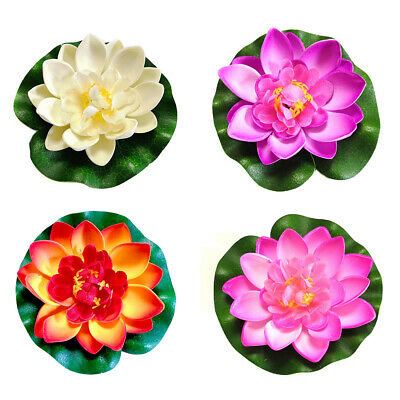 $ CDN3.46 • Buy Fake Floating Water Lily Lotus Flower Home Garden Aquarium Decor Plant Ornament