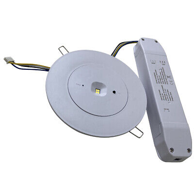 LED Emergency Ceiling Light 2.5w Recessed Round Ultra Slim Panel Non-Maintained  • 19.86£