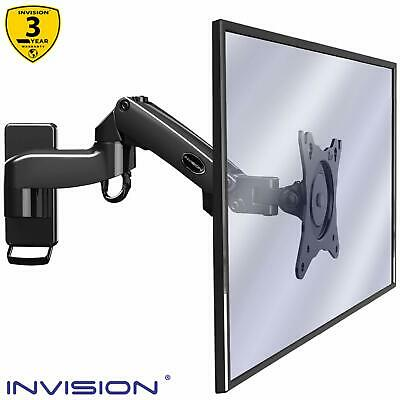 Invision Monitor Arm Wall Mount Bracket For PC Monitor & TV - To Fit Screens 17 • 36.99£