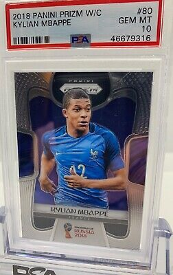 $ CDN816.30 • Buy 2018 Panini Prizm World Cup #80 Kylian Mbappe Rc Rookie Psa 10 Gem Mint 🔥🔥🔥