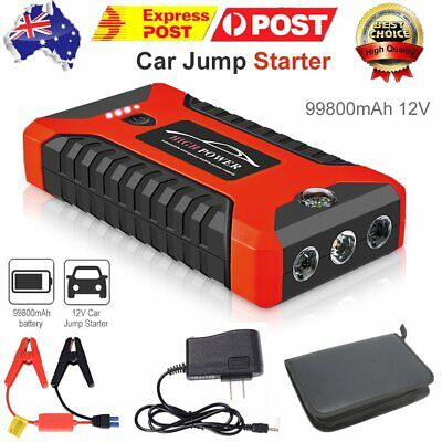 AU60.89 • Buy 12V 99800mAh Vehicle Jump Starter 300A Car Battery Charger Booster Power Bank AU