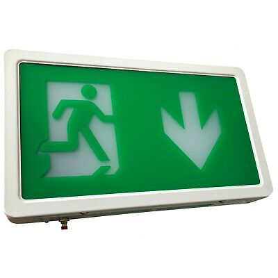 £22.90 • Buy LED Exit Box Self Testing Emergency Lighting IP20 Maintained / Non Maintained