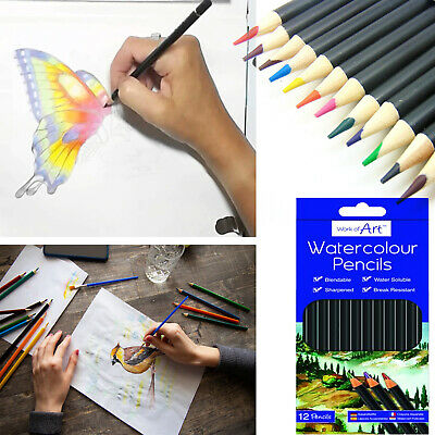 12 Watercolour Artist Pencils For Drawing Painting Sketching Art Water Colour UK • 2.95£