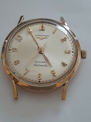 $ CDN307.16 • Buy Vintage Men's Rare Longines Admiral 1200 Automatic 10k Gf Watch Running Perfect