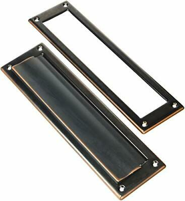 $52.20 • Buy Standard Letter Size Mail Slot 11  Wide Opening Interlocking Flap Rubbed Bronze