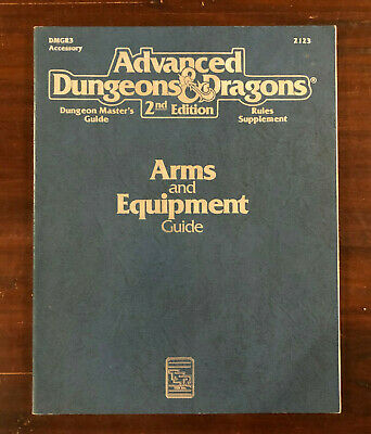 AU33 • Buy Advanced Dungeons And Dragons: Arms And Equipment Guide (DMGR3 Accessory)