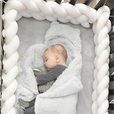 £15.95 • Buy  Cot Bedding Bumper Infant Crib Woven Thick Plush Protection Pad Pillow 1/3M