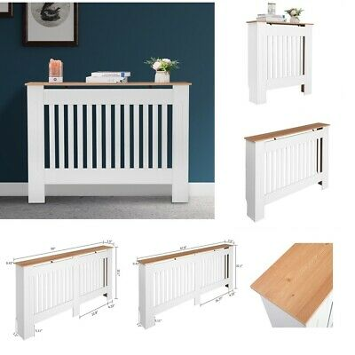 Radiator Cover White Painted Vertical Cabinet MDF Wood Top S, M, L, XL Home • 28.45£