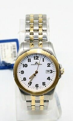 AU116.77 • Buy Jacques Lemans 1-1019K Men's Silver Gold Stainless Steel Swiss Made Watch NEW