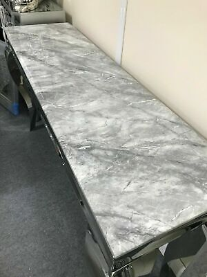 £500 • Buy Louis Console Table With Grey Solid Marble Top And Lamp Table
