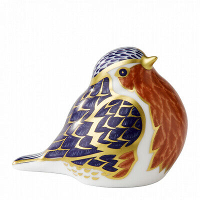 Royal Crown Derby Porcelain Animal Paperweight Robin • 108£