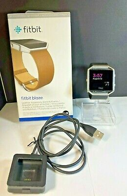 $ CDN83.03 • Buy Fitbit Blaze FB502 Activity Tracker Black W/ New Genuine Leather Band - Tested