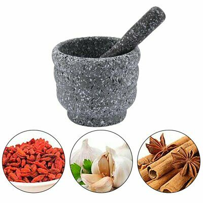 £8.20 • Buy Large Pestle And Mortar Set Natural Spice & Herb Crusher Grinder Durable Stone ~