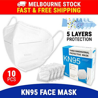 AU18.95 • Buy 10PCS KN95 N95 Face Mask 5 Layer Protective Mouth Masks Filter Respirator P2