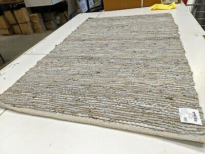 AU55 • Buy Woven Leather And Jute Rug