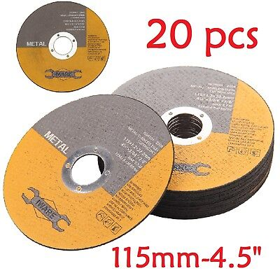 AU11.85 • Buy 20X ULTRA THIN METAL CUTTING SLITTING DISCS 115mm 4.5 INCH FOR ANGLE GRINDER