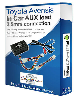 Toyota Avensis AUX Lead, IPod IPhone MP3 Player, Toyota Auxiliary Adaptor Kit • 49.99£