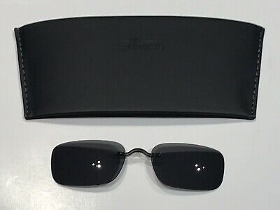 £50.82 • Buy Silhouette Clip On Sunglasses 5065 52mm X 35mm Gray Tint Polarized Rectangle