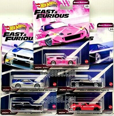 $30.99 • Buy Hot Wheels 2020 Fast & Furious Quick Shifters Set Of 5 Car Case J In Stock