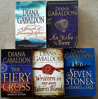 AU42.95 • Buy DIANA GABALDON - 5 BOOKS - OUTLANDER SERIES Breath Snow & Ashes, Fiery Cross