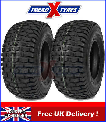2x 4Ply Lawn Mower 20x8.00-8 Grass Tyres Two Garden Tractor Golf Buggy Turf X2 • 65.99£