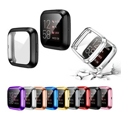 $ CDN4.69 • Buy For Fitbit Versa 2 Full Screen Protector Watch Slim Case Protect Bumper Cover