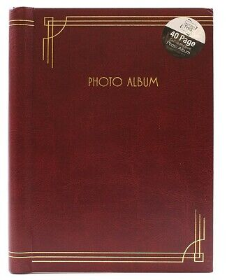 £8.59 • Buy Red - 8 X 6 Inch Self Adhesive Photo Album 40 Pages Bookbound Camera