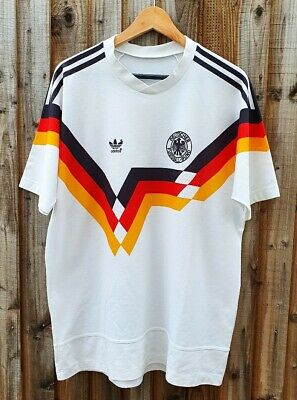 Vintage 1990 West Germany Adidas Home Football Shirt Size Xl Italia 90 • 80£