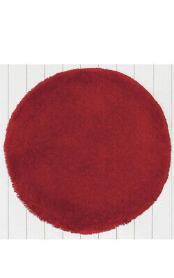 Argos Home Snuggle Shaggy Circle Rug - 100cm - Poppy Red Used • 16£