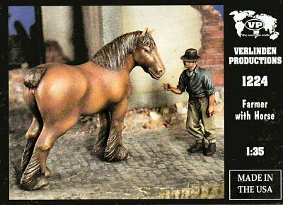 Verlinden Productions 1224 Farmer With Draft Horse 1/35 Scale Resin Figures • 19.95£