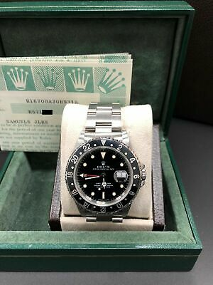 $ CDN15850.80 • Buy Rolex GMT Master 16700 Black Bezel Stainless Steel Box Papers