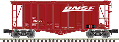$ CDN98.85 • Buy Atlas O Scale 40' Airslide Covered Hopper (2-Rail) BNSF (Wedge Logo) #400301