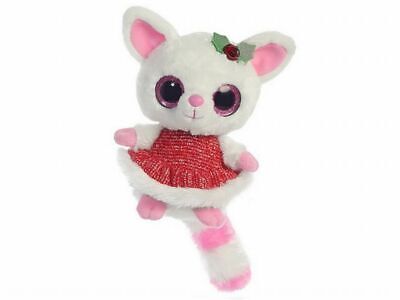 YooHoo And Friends 5  Pammee Fennec Fox W/ Red Dress Cuddly Soft Toy By Aurora • 9.99£