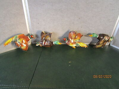 Vintage Japan Ceramic Flying Ducks And Pheasant Wall Plaques Pottery • 34.93£
