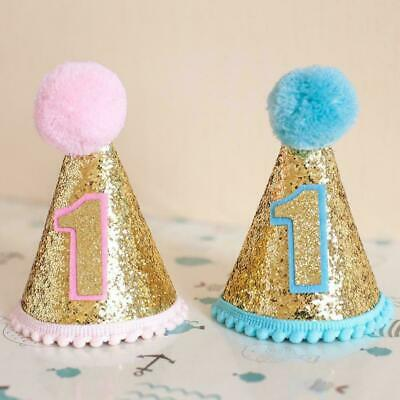 £2.62 • Buy Kids Circular Cone Birthday Hat 1st-2rd Newborn Toddlers Party Crowns Q3M3
