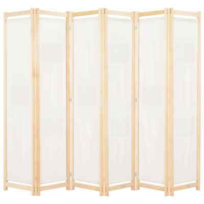 AU102.95 • Buy 6 Panel Room Divider Fabric Screen Dressing Room Privacy Freestanding Partition
