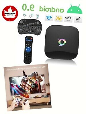 $ CDN65.60 • Buy Q Plus Android 9 TV Box 32 GB ROM H6 Quad Core WiFi 2.4G Ethernet USB 3 Support