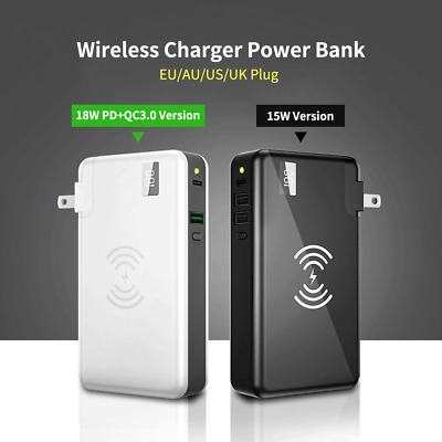 AU48.08 • Buy For IPhone 10000mAh Wireless Power Bank Universal LED PD QC 3.0 Fast Charger