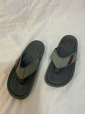 Mens Sandals Grey Slip On Toe-post Flip Flop Shoes Size 8 • 14.95£