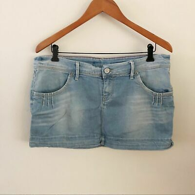 MELTING POT | Womens Stella Mini Jean Skirt Sz 32 • 18.09£