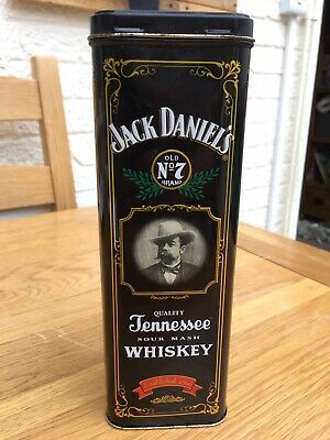 Jack Daniels Empty Collectable Bottle Tin - Container Holder Storage • 10£