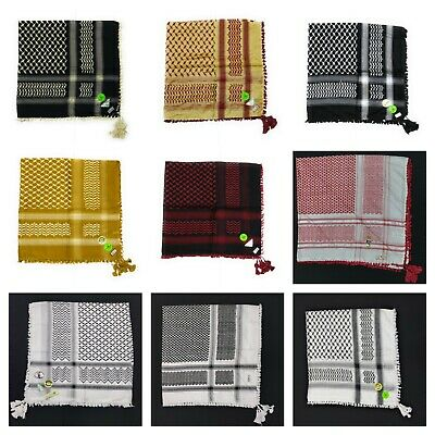 New Authentic Best Quality Arab Palestine Afghan Style Scarf Shemagh Yashmagh • 9.99£