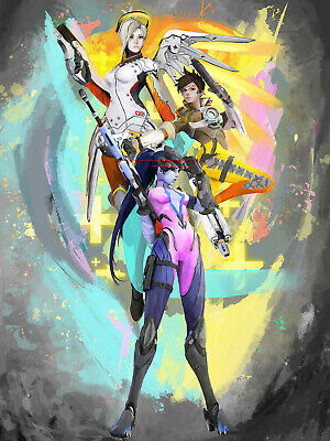 AU40.65 • Buy Overwatch Widomaker, Tracer, And Mercy Artist-Signed Print, 16x20  Glossy